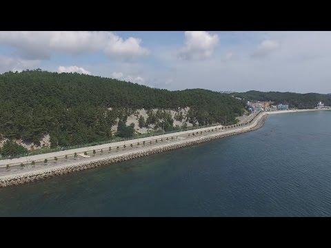 스카이뷰 - 하늘에서 본 포항 환호동 해안도로