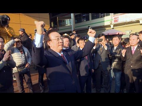 대선 출마 김관용 경북지사 서문시장서 민심행보