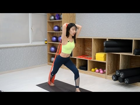 [3분 필라테스] 10.비키니 몸매 만들기 - (3) 삼두근 운동 (Triceps pulling)