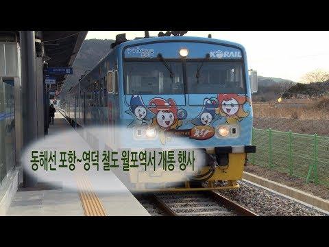 [영상] 동해선 포항~영덕 철도 월포역서 개통 행사