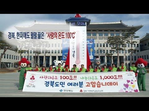 [영상] 경북, 한파에도 펄펄 끓은 '사랑의 온도 100℃'