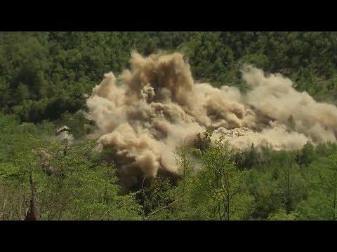 [영상] 北 풍계리 핵실험장 폭파현장