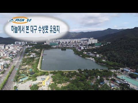 [스카이뷰] 하늘에서 본 대구 수성못 유원지