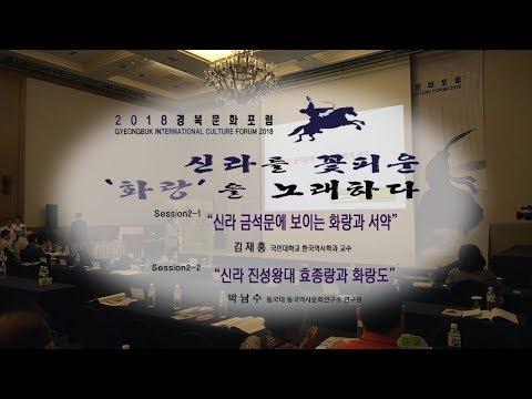 [2018경북문화포럼]SESSION 2 화랑의 기상과 그 흔적 강연  중계영상